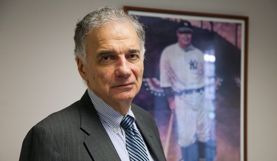 Longtime consumer activist Ralph Nader. (Associated Press) ** FILE **
