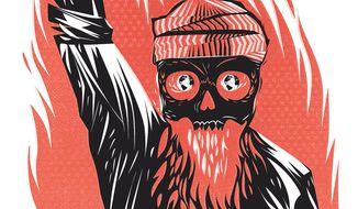 Illustration on the threat of terrorist Islam by Linas Garsys/The Washington times