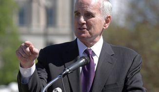 "FILE - In this May 22, 2014 file photo Minnesota Gov. Mark Dayton speaks at the Minnesota State Capitol in St. Paul. Minn. Dayton said on Tuesday, May 27, 2014  Minnesotans will find life simpler after a so-called ""Unsession"" that wiped more than 1,000 outdated laws off the books. (AP Photo/Jim Mone, File)"