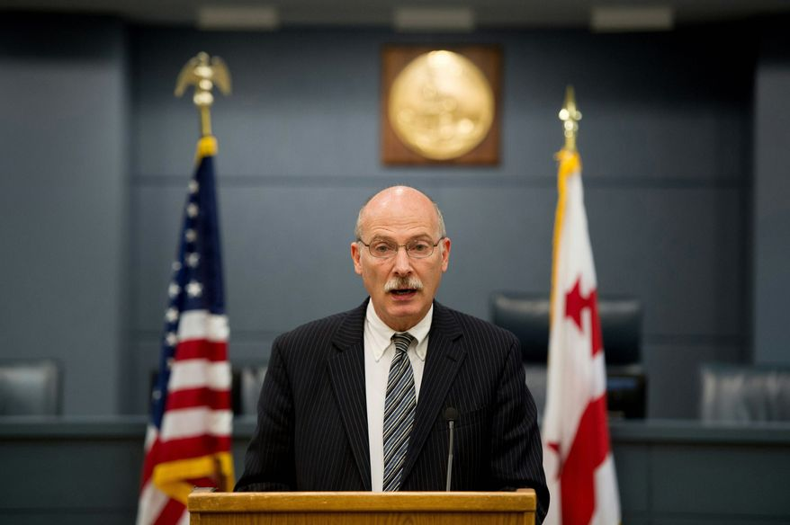 D.C. Council Chairman Phil Mendelson. (Andrew Harnik/The Washington Times)