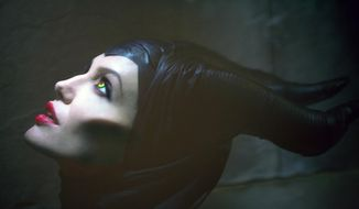 "This image released by Disney Enterprises Inc., shows actress Angelina Jolie in the title role of ""Maleficent,"" the villain from the 1959 classic ""Sleeping Beauty.""  (AP Photo/Disney Enterprises, Inc., Greg Williams)"