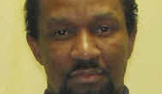 This undated file photo provided by the Ohio Department of Rehabilitation and Correction shows William Montgomery. Ohio executions have been put on hold for 2 1/2 months after a federal judge said he wanted to hear arguments over the state's new lethal injection procedures. The order delays the Aug. 6 execution of Montgomery, who shot 20-year-old Debra Ogle and her 19-year-old roommate Cynthia Tincher on or around March 8, 1986. (AP Photo/Ohio Department of Rehabilitation and Corrections)