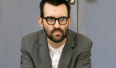 FILE - This May 3, 2005 file photo shows Mark Oliver Everett, aka E, of the music group Eels, in the Hollywood Section of Los Angeles. Everett says in an interview Wednesday, May 28, 2014, that he and Steve Perry, the former Journey leader have become good friends and that Perry is an Eels fan. He says Perry has attended Eels rehearsals over the years, but he was still surprised when the singer told him he would perform at their show in St. Paul, Minnesota on Monday, May 26. (AP Photo/Damian Dovarganes, File)
