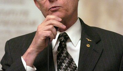 Del. Richard H. Black, R-Loudoun, speaks on the floor of the House of Delegates discussing his bill that would require social service agencies take into account whether a couple want to adopt a child is gay during the session Saturday, Feb. 5, 2005, in Richmond, Va. 