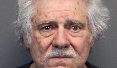 A photo provided by the Washoe County Jail is the booking photo of Wayne Paul Burgarello, 73, of Sparks,  Nev.   Burgarello was areested on Tuesday, May 27, 2014, on suspicion of murder and attempted murder in a fatal shooting in Februrary at a vacant Sparks residence he owns.  (AP Photo/Washoe County Sheriff's Office)