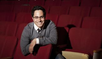 FILE - In this March 30, 2011 file photo, playwright Rajiv Joseph poses for a portrait in New York.World premiere plays by Doug Wright, Rajiv Joseph and Halley Feiffer, as well as a pair of David Mamet revivals, highlight the Atlantic Theater Company's upcoming season.  (AP Photo/Victoria Will, File)