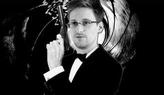 Photo illustration of Edward Snowden as James Bond.