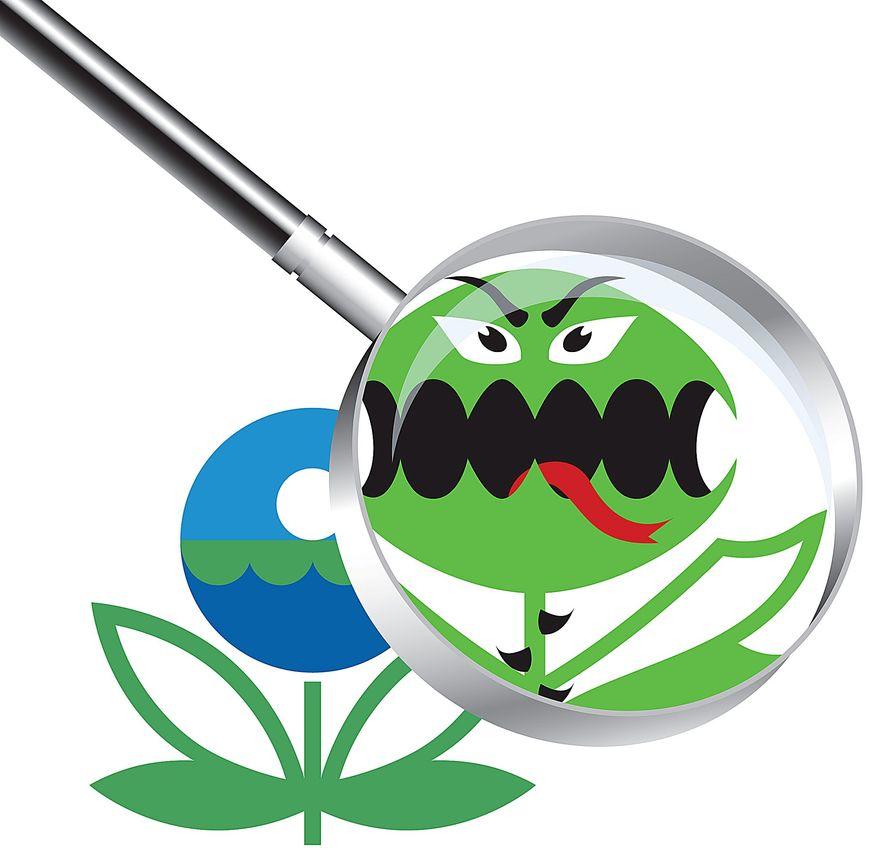 EPA Monster Illustration by Greg Groesch/The Washington Times