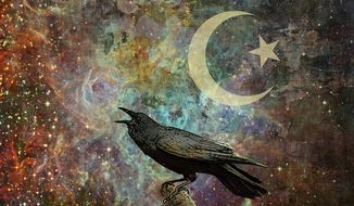 Islamic Crow Illustration by Greg Groesch/The Washington Times