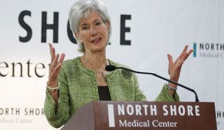 Former Department of Health and Human Services Secretary Kathleen Sebelius. (AP Photo/Lynne Sladky)