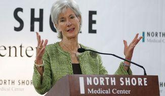 Former Department of Health and Human Services Secretary Kathleen Sebelius. (AP Photo/Lynne Sladky)