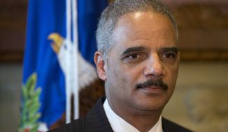 The Justice Department, headed by Eric Holder (pictured), is being sued by legal watchdog group in relation to the  Fast and Furious whistle-blower scandal.