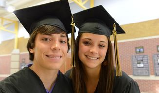 ADVANCE FOR SUNDAY JUNE 1 - This undated photo shows twins Brian, left, and Reagan Gillette. The twins will graduate at the top of their class at Bushland High School. The Amarillo-area twins have overcome mother's murder to graduate top of their high school class. (AP Photo/Amarillo Globe-News, Michael Schumacher) MANDATORY CREDIT; MAGS OUT; TV OUT;
