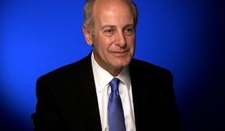 This April 28, 2014 image from video shows Joe Benincasa, president of The Actors Fund during an interview in New York. Benincasa will receive an honorary Tony Award on June 8, 2014, citing his transformation of The Actors Fund over the past 25 years. (AP Photo/APTV)