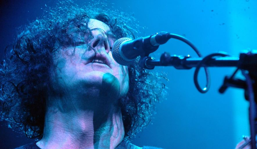 """A publicist for Jack White says the rocker is canceling his remaining tour dates in Mexico after the death of his band's keyboard player Isaiah """"Ikey"""" Owens. (Photo by Katy Winn/Invision/AP, File)"""