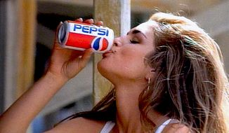 Cindy Crawford starred in 1991's Pepsi commercial, which first aired during the Super Bowl. (Image: YouTube)