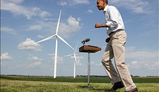 ** FILE ** President  Obama speaks at the Heil family farm on Aug. 14, 2012, in Haverhill, Iowa. (AP Photo/Carolyn Kaster)