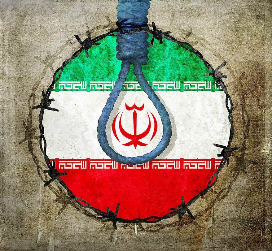 Iran Human Rights Illustration by Greg Groesch/The Washington Times