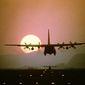 ** FILE ** A C-130 Hercules aircraft prepares to land. (U.S. Air Force)