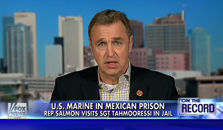 """Rep. Matt Salmon said Monday that President Obama """"needs to pick up the gosh darn phone and do something"""" about Marine Sgt. Andrew Tahmooressi, who has been incarcerated in a Mexican prison since April 1. (Fox News)"""