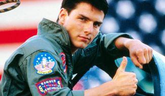 Tom Cruise in the 1986 blockbuster movie Top Gun
