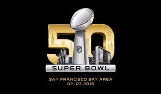 The NFL logo for Super Bowl 50 (via Twitter)