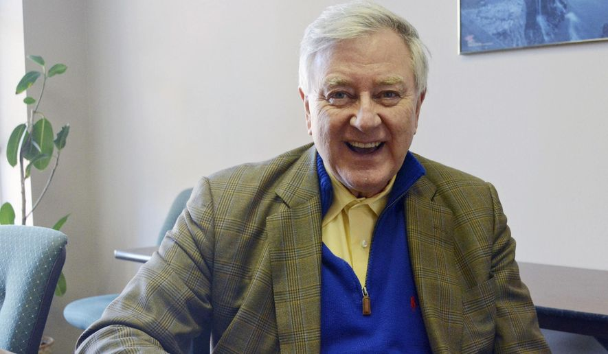 In this Feb. 6, 2014, file photo, Larry Pressler, who served three terms as a Republican U.S. senator for South Dakota from 1979 to 1997, is seen in Sioux Falls, S.D. (AP Photo/Dirk Lammers, File)