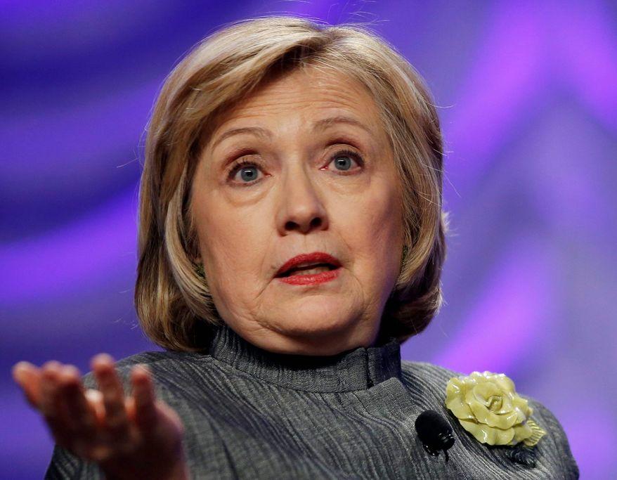 Hillary Clinton      Associated Press photo