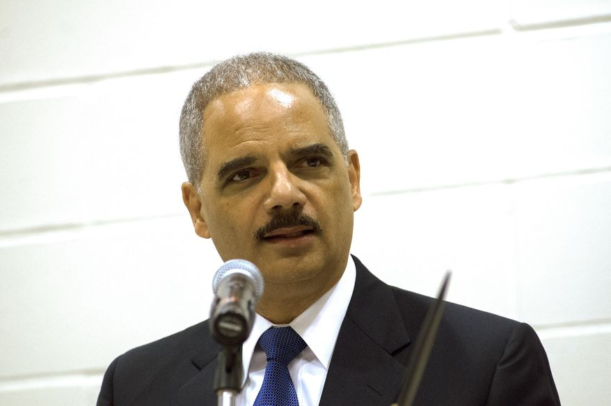 "U.S. Attorney General Eric Holder delivers his keynote address at a tribal conference on the campus of United Tribes Technical College in Bismarck, N.D., on Thursday, June 5, 2014.  Holder says the Justice Department and the Obama administration have ""fought to protect natural resources and water rights on tribal lands ... and prioritized the resolution of longstanding legal disputes."" He says the administration also has helped tribal authorities ""combat violence against Native women.""  (AP Photo/Kevin Cederstrom)"