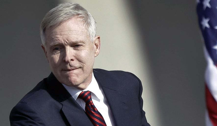 Secretary of the Navy Ray Mabus attends an event at the General Dynamics NASSCO shipyard in National City, Calif., in this Jan. 9, 2014, file photo. (AP Photo/Lenny Ignelzi, FIle)