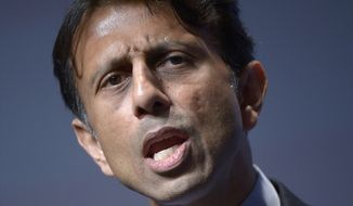 **FILE** Louisiana Gov. Bobby Jindal speaks in Orlando, Fla., on Aug. 30, 2013. (Associated Press)