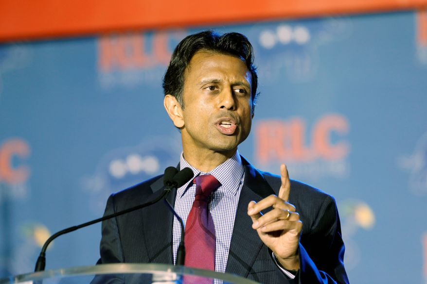 Picking sides: Louisiana Gov. Bobby Jindal is putting himself on the same page as grass-roots conservatives who fear Common Core education standards are part of an effort to inculcate liberal ways of thinking in students. (Associated Press)
