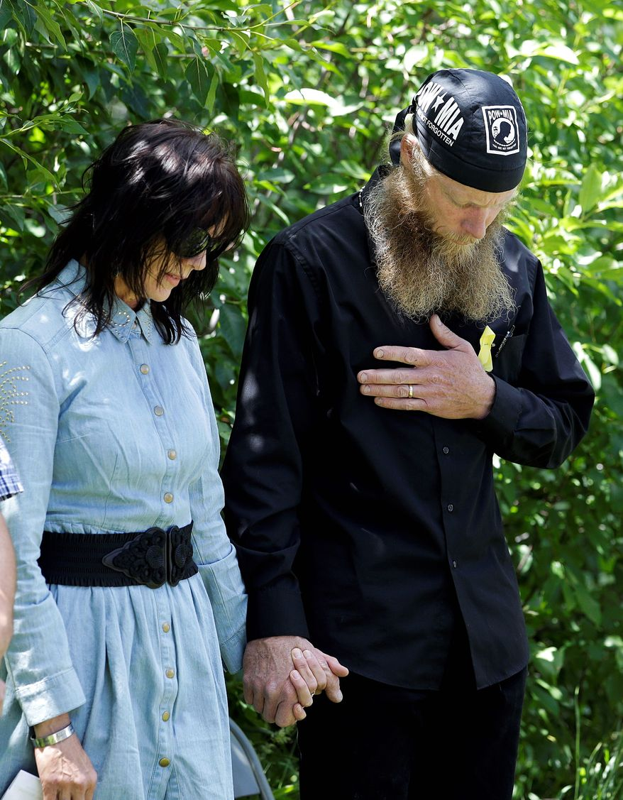 Robert and Jani Bergdahl were hooked into multiple secure video conferences that included U.S. Central Command, White House, State Department and intelligence officials while their son, Army Sgt. Bowe Bergdahl, was being held by the Haqqani Network. (Associated Press)