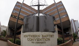 FILE -- This Dec. 7, 2011 file photo shows the headquarters of the Southern Baptist Convention in Nashville, Tenn. The Southern Baptist Convention will chose a new president from among at least three candidates on Tuesday, June 10, 2014, at their convention in Baltimore. (AP Photo/Mark Humphrey, File)