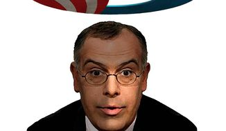 Illustration of David Brooks by Alexander Hunter/The Washington Times
