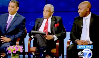 New York Rep. Charlie Rangel was seen tinkering away on his iPad during a live congressional debate against his challengers over the weekend. (ABC 7)