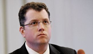 Kevin O'Dowd, Governor Christie's chief of staff, testifies before the New Jersey Select Commission on Investigation looking into the closure of lanes on the George Washington Bridge, Trenton, N.J., Monday, June 9, 2014. (AP Photo/The Record of Bergen County, Amy Newman)