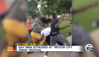 Christin Howard was savagely beaten by a group of attackers on Sunday as revelers descended on Detroit for the city's gay pride festival. (ABC 7)
