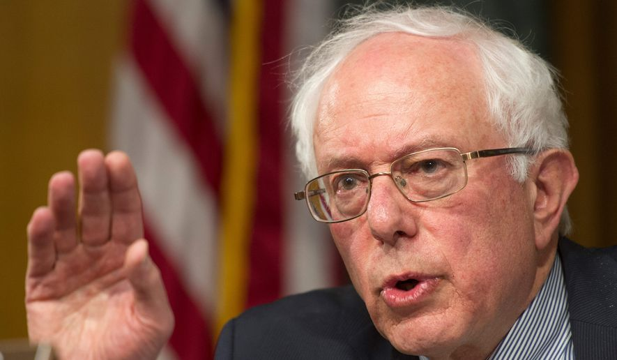 Senate Veterans Affairs Committee chairman Sen. Bernie Sanders, Vermont independent, says he's hopeful the veterans health care bill the Senate passed Wednesday will be reconciled quickly with a similar measure passed unanimously by the House. (Associated press photographs)