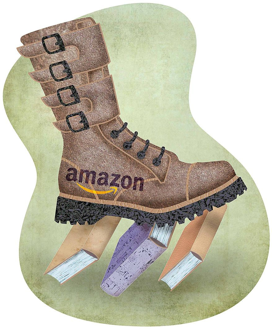 Amazon Boot Illustration by Greg Groesch/The Washington Times