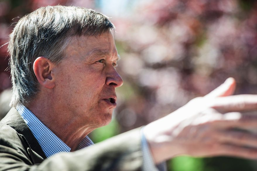 """Colorado Gov. John Hickenlooper, a Democrat, is working furiously to negotiate a compromise. Last week, he proposed a """"local control"""" bill that would give cities and counties greater authority over setbacks, inspections and noise reduction rules. (associated press)"""
