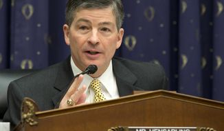**FILE** House Financial Service Committee Chairman Rep. Jeb Hensarling, Texas Republican, speaks on Capitol Hill in Washington on Feb. 27, 2013. (Associated Press)