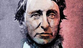 Illustration of Henry David Thoreau by Alexander Hunter/The Washington Times
