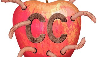 Wormy Apple Illustration by Greg Groesch/The Washington Times