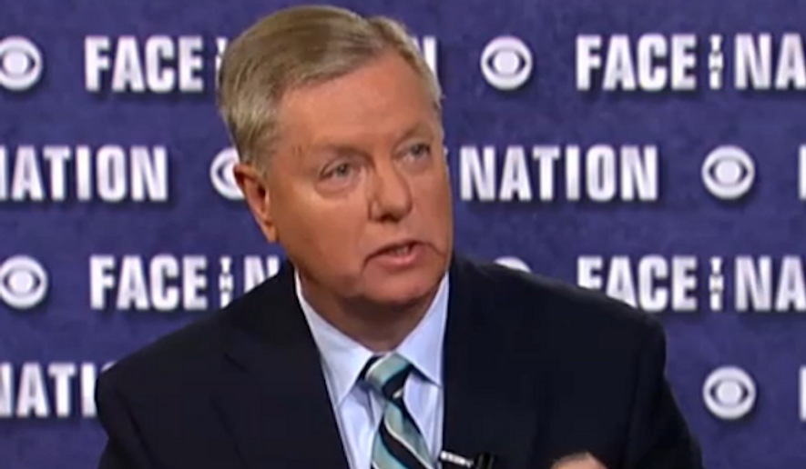 """Sen. Lindsey Graham said Sunday that the decision to withdraw U.S. forces from Iraq has made the chances for another 9/11-like attack on American soil """"inevitable."""" (CBS News)"""