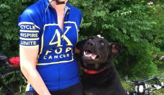 Jamie Roberts, an assistant basketball coach at Catholic University and former St. Mary's College multi-sport athlete, was killed June 13, 2014 in Kentucky while bicycling across the country in a fundraiser supporting cancer research. (via 4K for Cancer website)