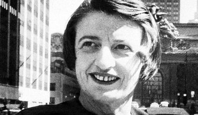 A manuscript from 1934 by novelist Ayn Rand, seen here in Manhattan in 1962, will be published next year by Penguin Random House. Rand died in 1982. (Associated Press)