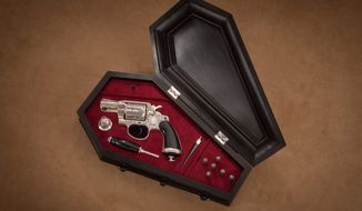 Vampire Gun Set on display at the National Firearms Museum.