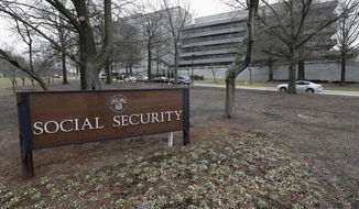 The Social Security Administration's main campus in Woodlawn, Md., is seen here on  Jan. 11, 2013. (Associated Press) **FILE**