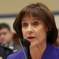 **FILE** Former Internal Revenue Service official Lois Lerner speaks on Capitol Hill in Washington on March 5, 2014. (Associated Press)
